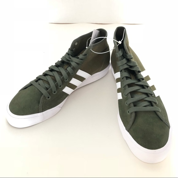 22d8bb644f Adidas Originals Matchcourt High RX Sneakers Olive